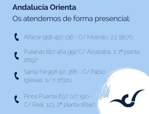 Andalucía Orienta ya se encuentra en sus sedes