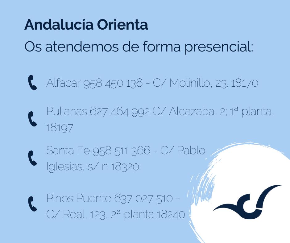 información Andalucía Orienta del Consorcio de la Vega