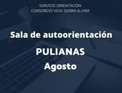 Sala de autorientación Pulianas: programación agosto