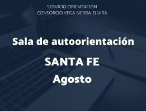 Sala de autorientación Santa Fe: programación agosto 2020