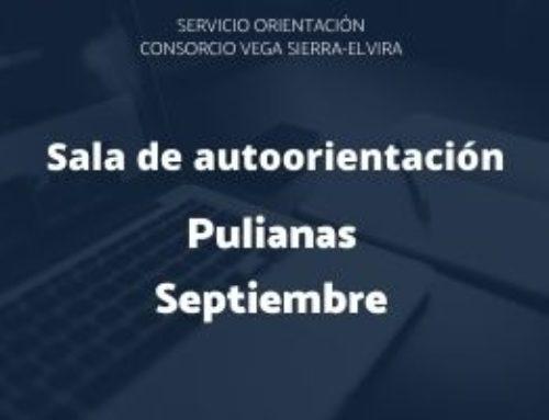 Programación sala de autorientación Pulianas septiembre 2020