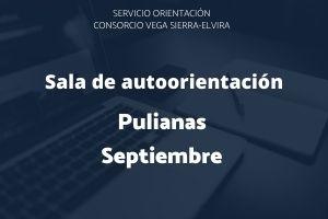 programación de septiembre de la sala de autoorientación en Pulianas