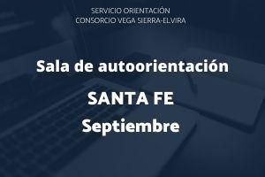 programación en septiembre de la sala de autoorientación de santa fe