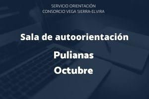 Sala de autoorientación de Pulianas para el mes de octubre