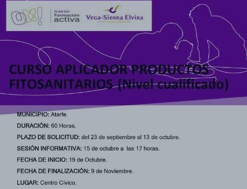 Nuevo curso: Aplicador productos fitosanitarios
