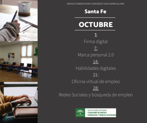 Sala autoorientación en Santa Fe para el mes de octubre