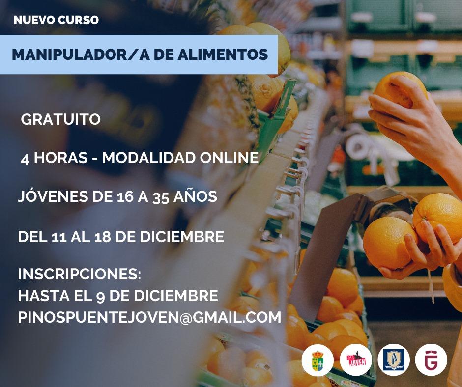curso manipulador de alimentos en Pinos Puente