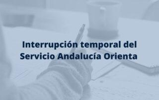 interrupción del servicio andalucia orienta