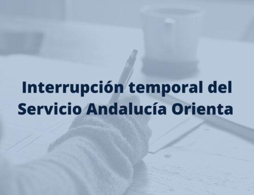 Interrupción del Servicio Andalucía Orienta