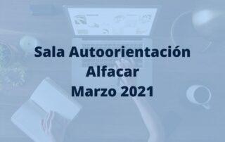 Programación para marzo de la sala de autoorientación de Alfacar