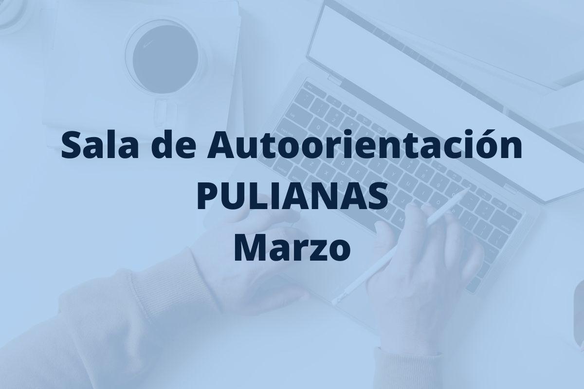 Programación de la sala de autoorientación de Pulianas para el mes de marzo