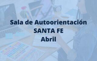 programación de la sala de autoorientación de santa fe en abril