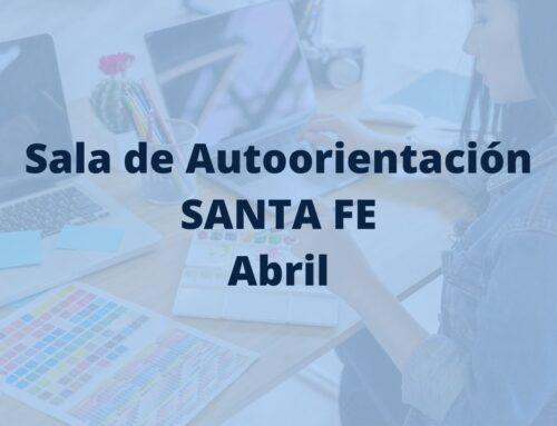 Sala de Autoorientación Santa Fe en abril