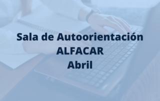 programación sala de autoorientación Alfacar en abril