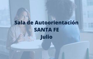 sala de autoorientación de Santa Fe en julio