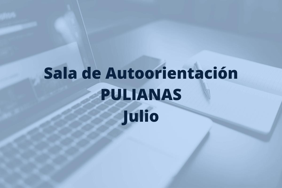 sala de autoorientación de Pulianas en el mes de julio