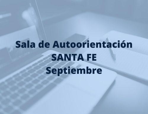 Sala de Autoorientación en Santa Fe, en el mes de septiembre