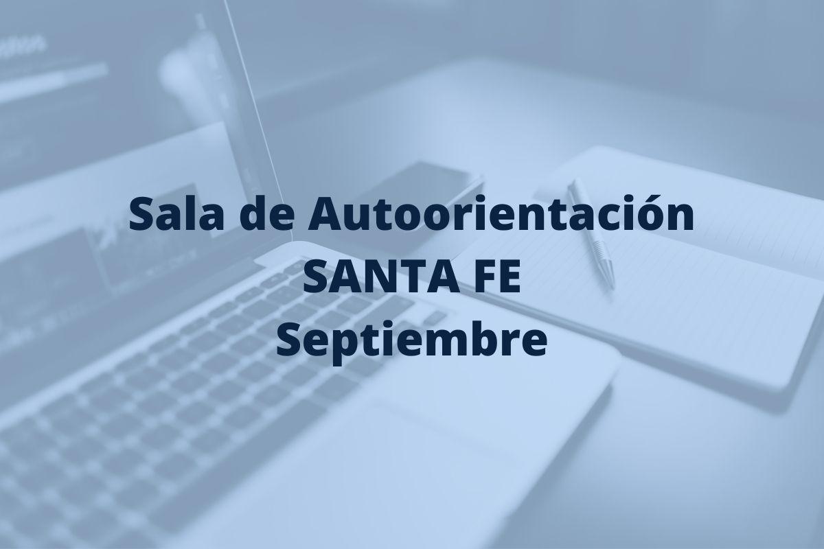sala autoorientación de Santa Fe en septiembre